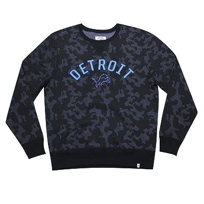 Mens DET Lions Athletic Pullover Thermal Sweatshirt