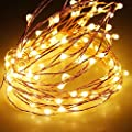 Solar String Lights,Sogrand Outdoor Garden Decorative Light 200 LED Copper Wire Warm White LED Landscape Lighting for Party Festival Patio Yard