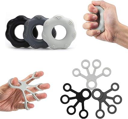 Set of 6 Finger Stretcher Hand Training Set Extensor Exerciser Resistance Bands