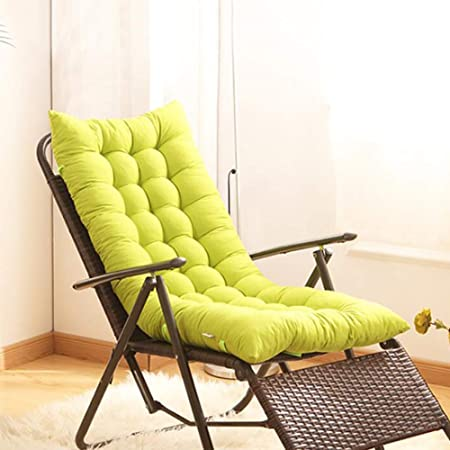 YEARLY Acolchado para Asiento de jardín, Salón Mimbre Cojines para sillas Espesar Ventana de la bahía Matt Mat Interiores Aire Libre Respirable Cojines de Silla Exterior-Verde 125x48x8cm(49x19x3inch): Amazon.es: Hogar