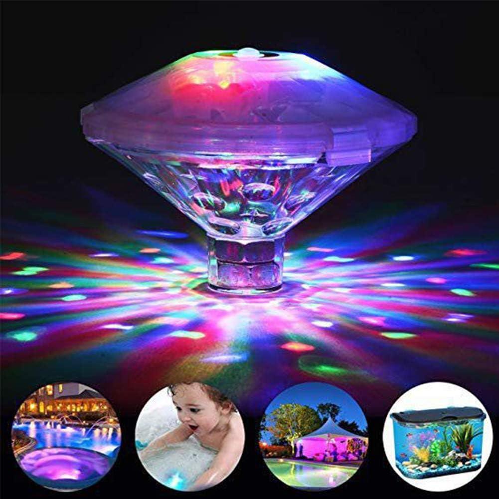 Spachy Luz LED subacuática, resistente al agua, para nadar, piscina, luces de baño para bebés, multicolor, para piscina, estanque, jacuzzi o decoración de fiesta