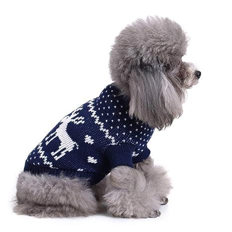 TUOTANG Ropa para Perros Disfraz de Navidad Suéter de Copo de ...