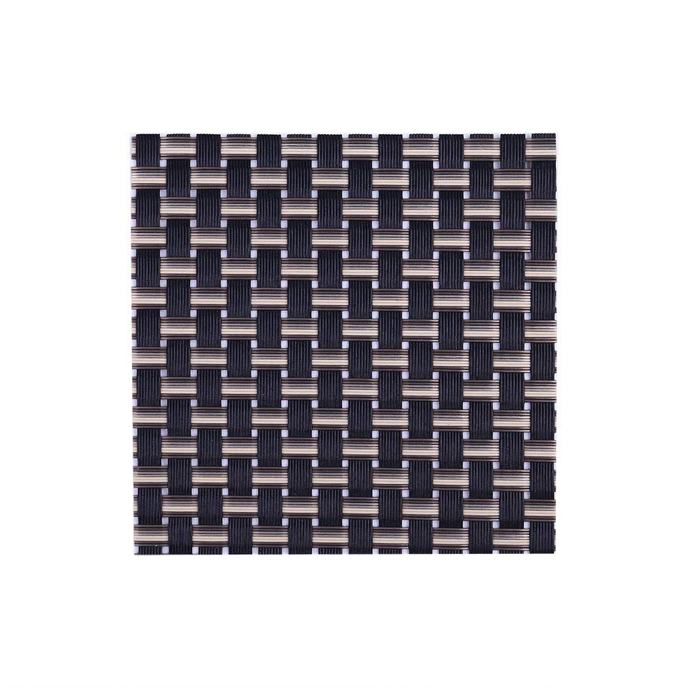 Mome Newest Cup Mat1PC Minimalism Square Cup Mat Compatible Crossweave Insulation Washable Table Mat,Dining Home Tabletop Decoration Ornament - 10X10cm- Non-Fading Non-Stain (D)