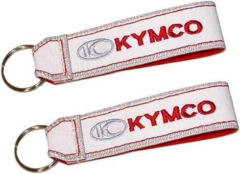 Kymco Doppelseitiger Schlüsselband Weiss 1 Stück Auto