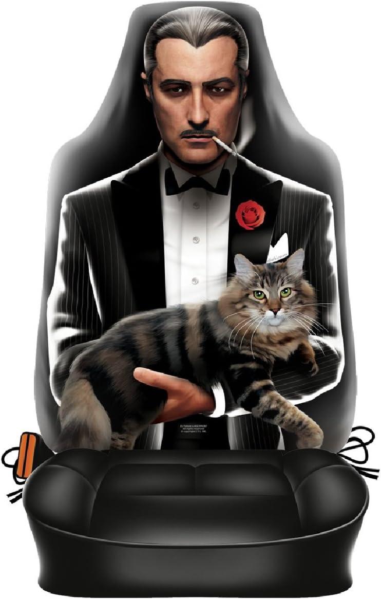 Sabuy Auto Sitzbezug Italienischer Mafia Pate Lustiger Sitzbezug Mit Fotodruck Motiv Ein Hingucker Mit Humor Für Ihr Auto Auto