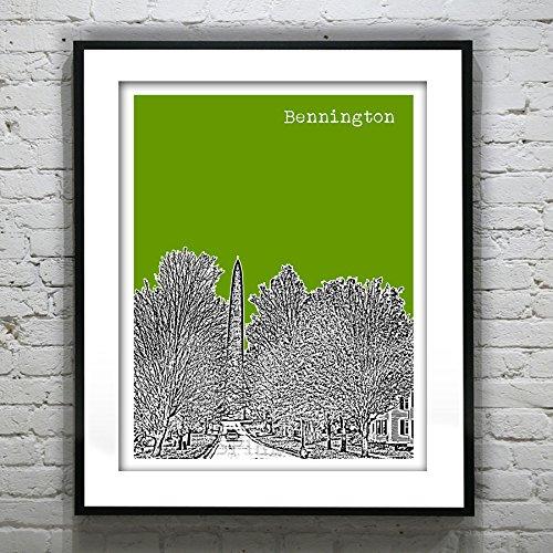 Bennington Vermont - Bennington Vermont Art Print - Bennington, VT - Version 1