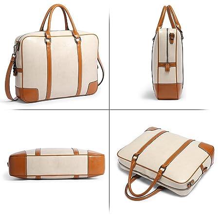 Amazon.com: BOSTANTEN Leather Briefcase Messenger Satchel Bags Laptop Handbags for Women: Computers & Accessories