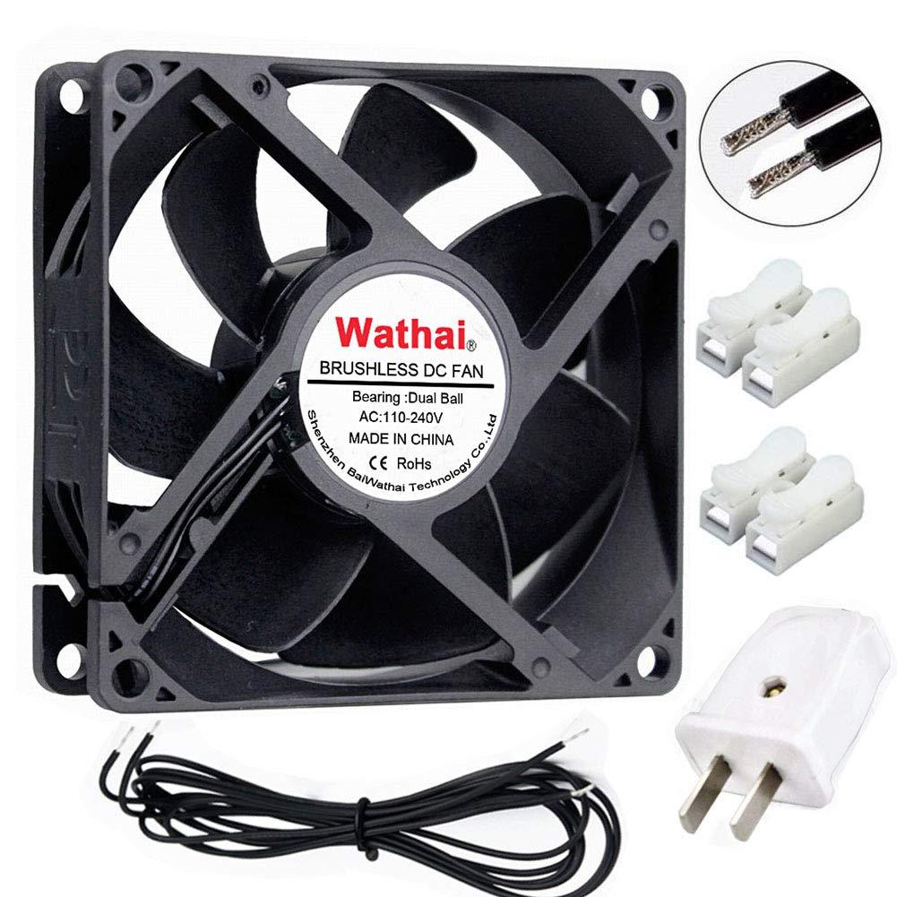 Wathai EC 92mm x 25mm Ball Axial Cooling Fan AC 110V 115V 120V 220V 240V Industrial Case Fan