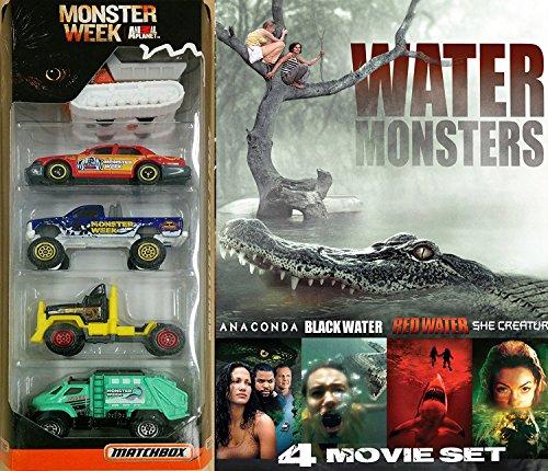 Monster Week Exclusive Matchbox Animal Planet 5-Pack + Water Monsters 4 Film Anaconda / Black Water / Mermaid Chronicles She Creature / Red Water