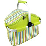 Webat Insulated Folding Cooler Picnic Basket Bag Thermal Tote Lunch Bag -- Color Randomization