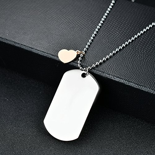 NOVLOVE To my daughter from mom Stainless Steel Dog Tag Letters To my daughter never forget how.love mom Pendant Necklace,Inspirational Gifts For daughter Jewelry by NOVLOVE (Image #3)'