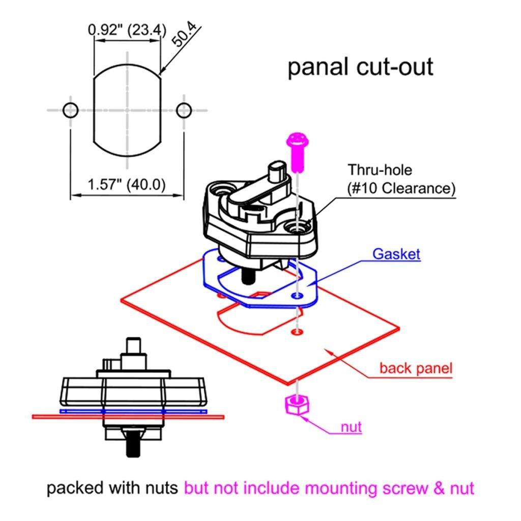 12V-32V DC,Waterproof IP67 MagiDeal 2PCS Circuit Breaker 20 Amp ...