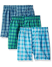 Fruit of the Loom Big Boys' Tartan Woven Boxer
