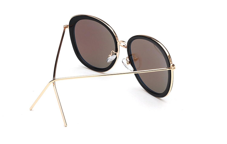 Sonnenbrille Sonnenbrille Persönlichkeit Metallkragen Mode Street View Froschspiegel Damen Und Herren,F