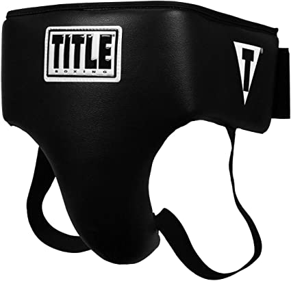 White//Black Title Boxing Elite Groin and Ab Protector