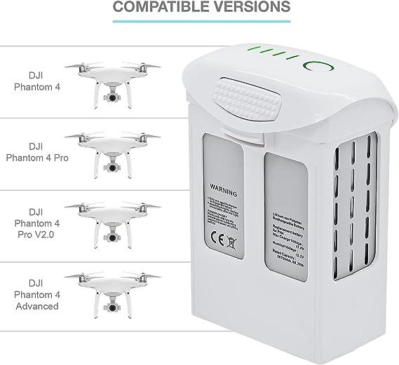 Formulaioue 15.2 V 5870 mAh Repuesto Inteligente Bater/ía de Repuesto LiPo para dji Phantom 4 4Pro FPV Quadcopter RC Drone Advanced