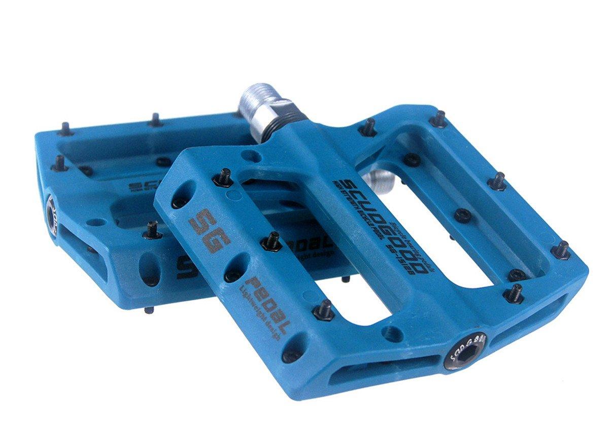 Mountainbike-Pedale, geringes Gewicht, 1 Paar, für AM / FR / DH / DJ / BMX blau grofitness