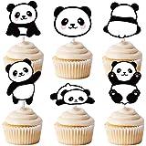 TOYANDONA 48Pcs Panda Cupcake Toppers Animal Cake Topper Sticks Paper Cake Toppers