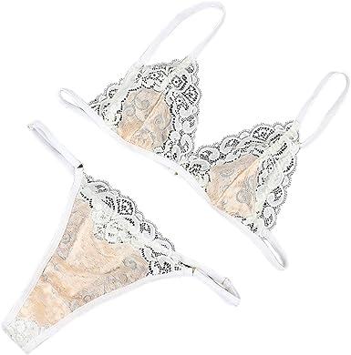US Women Mesh See Through Panties Backless Garters Thong Underwear Mini G-string