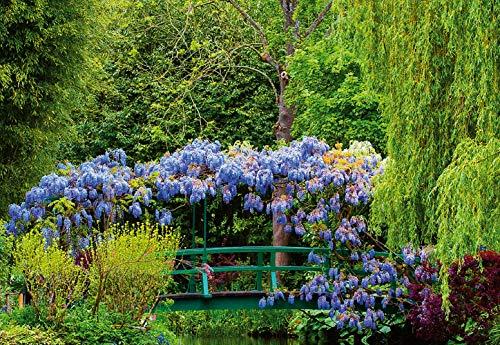 (Ideal Décor WG5035-4P-1 Monet's Garden In France Wall Mural, Green)