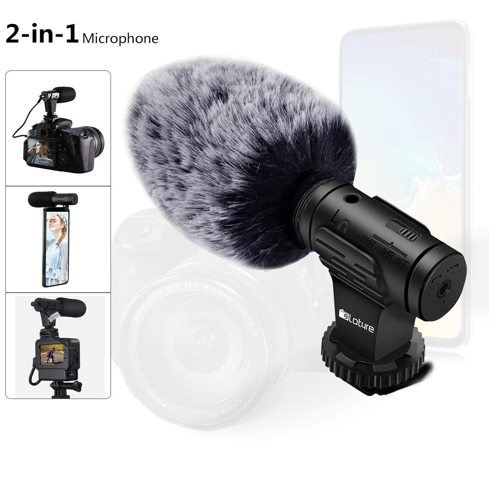 microfono Super-Cardioid para celulares y camaras