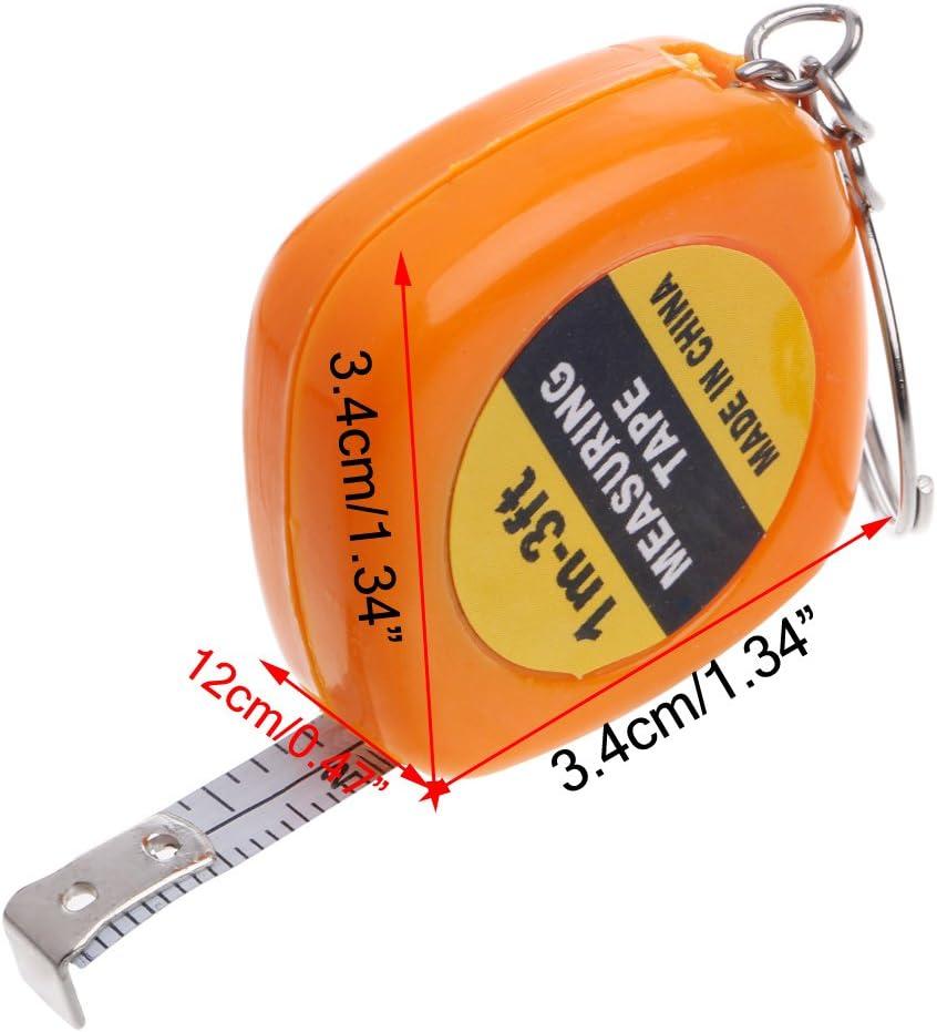 fatteryu Ruban /à mesurer /à r/ègle r/étractable Facile Mini Porte-cl/és /à r/ègle de Traction Portable 1m 3ft