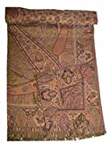 Pashmina Blanket Throw Reversible India Bedding King SL870