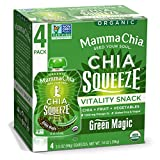 Mamma Chia Organic Vitality Squeeze Snack, Green Magic, 4 Count (Pack of 6) For Sale