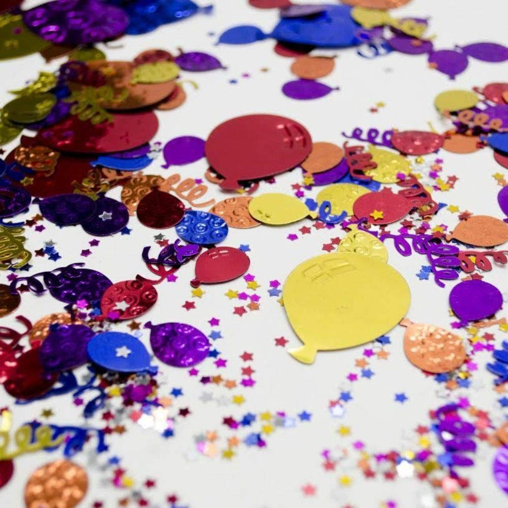 Birthday Party Jumbo Embroidered Celebration Confetti Foil Sprinkles 6 Count #BP01