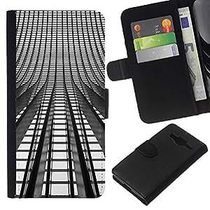 Leather Etui en cuir    Samsung Galaxy Core Prime    Se enciende Arquitectura Arquitectura Ciudad @XPTECH