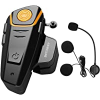 ENCHICAS 1x BT S2 Intercomunicador Casco Moto, 1000m Bluetooth Headset Motorcycle Intercom Manos Libres Moto Auriculares