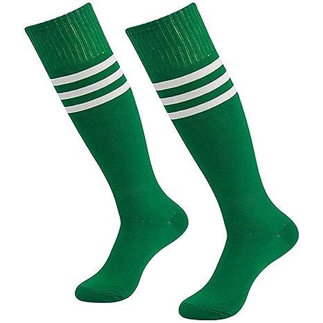 Da Wa moda mujeres rodillera calcetines rayas largo calcetines hombres deportes fútbol calcetines niñas Danza medias