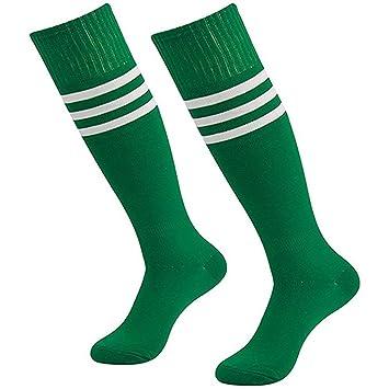 Da Wa moda mujeres rodillera calcetines rayas largo calcetines hombres deportes fútbol calcetines niñas Danza medias, verde: Amazon.es: Deportes y aire ...
