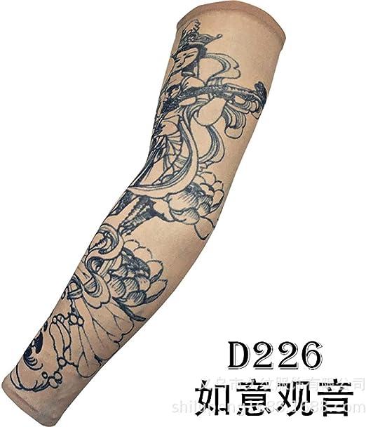 Zhuhuimin Un par de Mangas de Tatuaje Brazo de Flor sin Costura ...