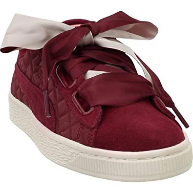 0db8fe753a6 PUMA Womens Suede Heart Quilt Casual Sneakers Shoes,
