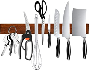 Magnetic Knife Holder, Ouddy 16 Inch Magnetic Knife Strip, Multipurpose Magnetic Knife Rack Bar Block, Kitchen Knife Magnet for Home Tool Organization