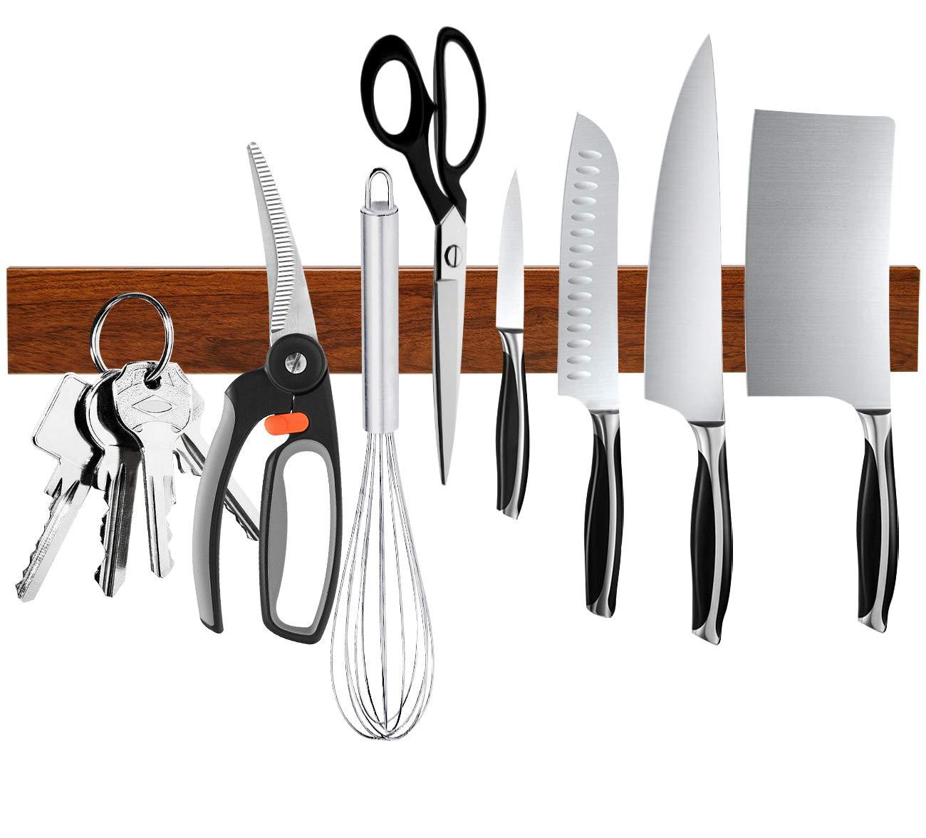 Magnetic Knife Holder, Ouddy 16 Inch Magnetic Knife Strip, Multipurpose Magnetic Knife Rack Bar Block, Kitchen Knife Magnet for Home Tool Organization by Ouddy