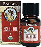 Badger - Organic Beard Oil, Conditions and Grooms Facial Hair and Moisturizes Skin - 1 fl oz Glass Bottle