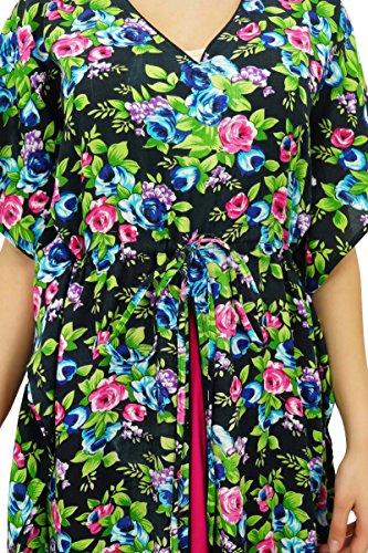 Bimba Caftan Maxi Rayonne Exclusive Chic, Robe De Camouflage Vêtements De Nuit De Taille Coulissée