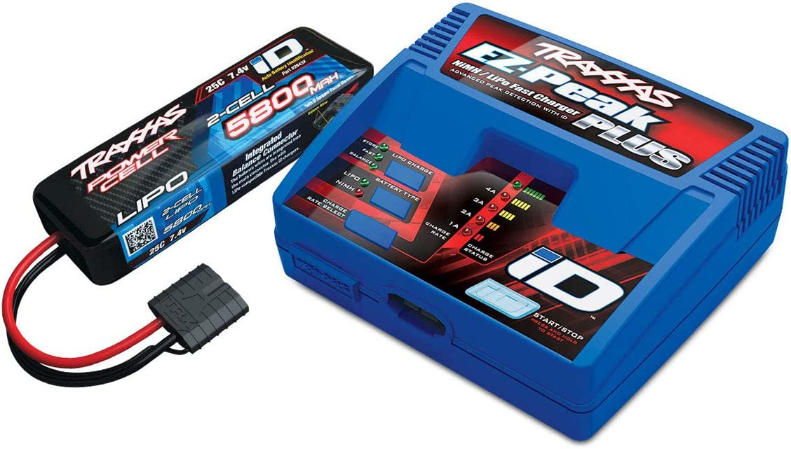 Traxxas Pack CHARGEUR 2970G + 1 x LIPO 2S 5800MAH 2843X Prise