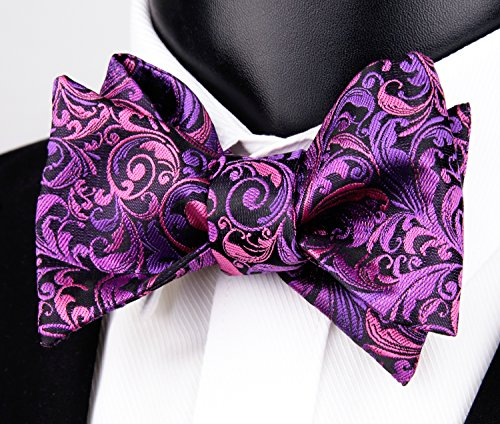 Handmade Purple amp; Set Hanky Mens Alizeal Tie Bow Dark Hn4x5S7