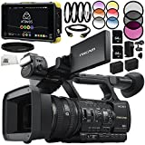 Sony HXR-NX5R NXCAM Professional Camcorder 13PC Accessory Bundle - Includes Atomos Shogun Flame + Includes 2X 64GB SD Memory Cards + 2 Replacement Batteries + More -  SSE