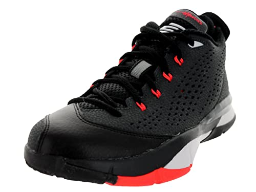 179fb9ae89c1 Jordan CP3 VII (GS) Youth Round Toe Synthetic Sneakers Black White Red