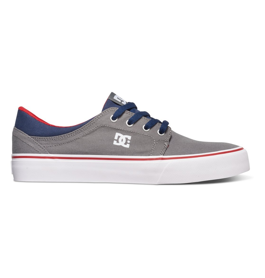 DC Men's Trase TX Unisex Skate Shoe B019DYK0RG 6 B(M) US|Grey/Dark Navy