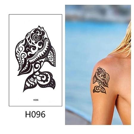 adgkitb 5 Piezas Tatuaje Temporal Pegatina Negro Falso Tatuaje ...