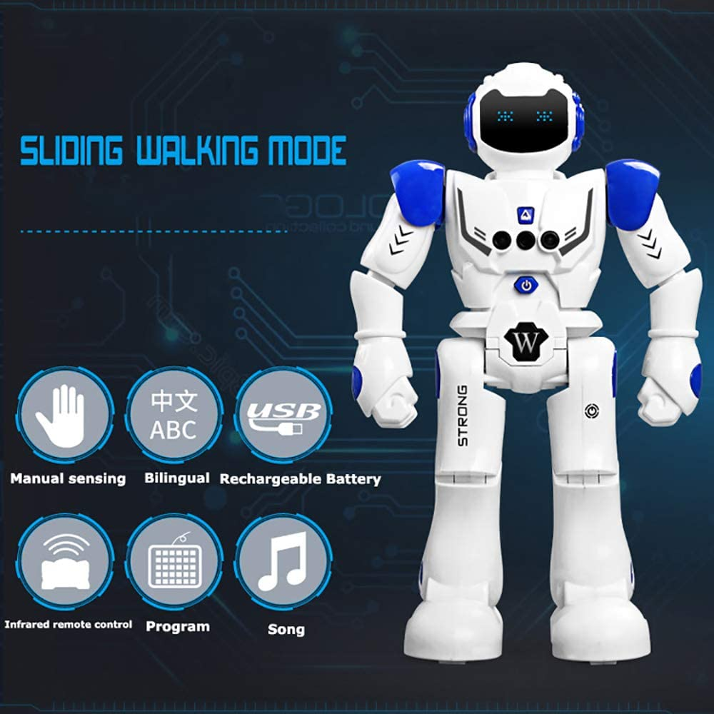 ZYLFN Robot de Juguete para niños, Kit de Robot Inteligente con ...