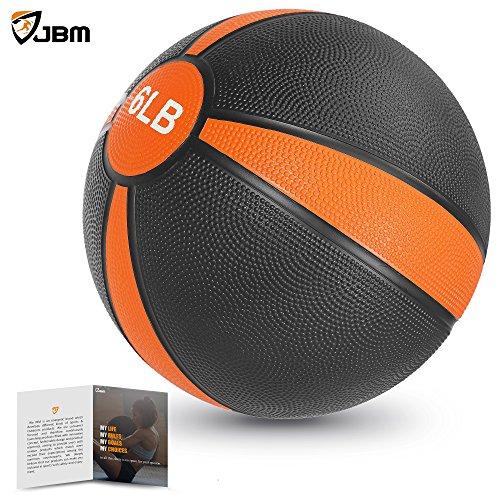 JBM Medicine Ball (2lbs 4lbs 6lbs 8lbs 10lbs 12lbs 15lbs) Slam Ball Medicine Ball Workouts / Exercise Strength Training Cardio Exercise Plyometric & Core Training ¨CSquats, Lunges, Slam Exercise
