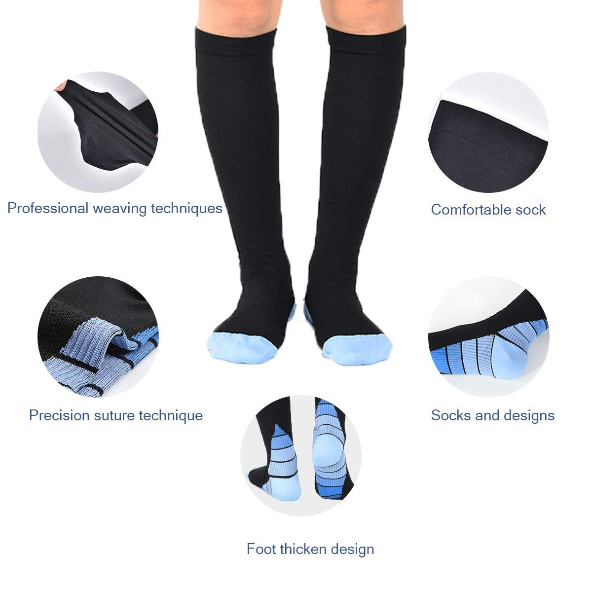 Geeignet f/ür Laufen Meowoo Kompressionsstr/ümpfe Compression Socks Bequem Atmungsaktiv und Hohe Elastizit/ät Fu/ßball und Andere Sportarten
