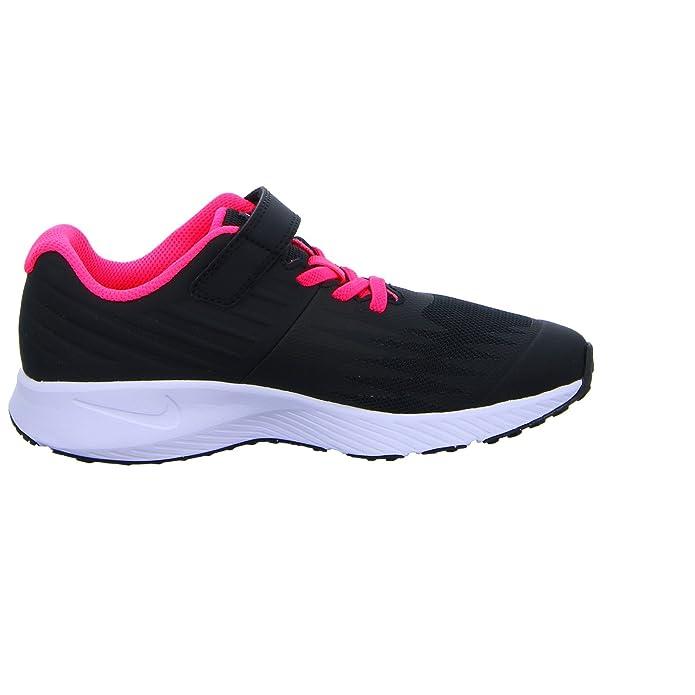 Nike Mädchen Star Runner (PSV) Traillaufschuhe schwarz (BlackWhiteVoltRacer Pink 001) 29.5 EU