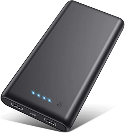 Android Phone Tablets and Others Portable Charger Power Bank 24800mAh High Capacity External Battery Pack Dual Output Port with LCD Digital Display Portable Phone Charger for Smart Phone
